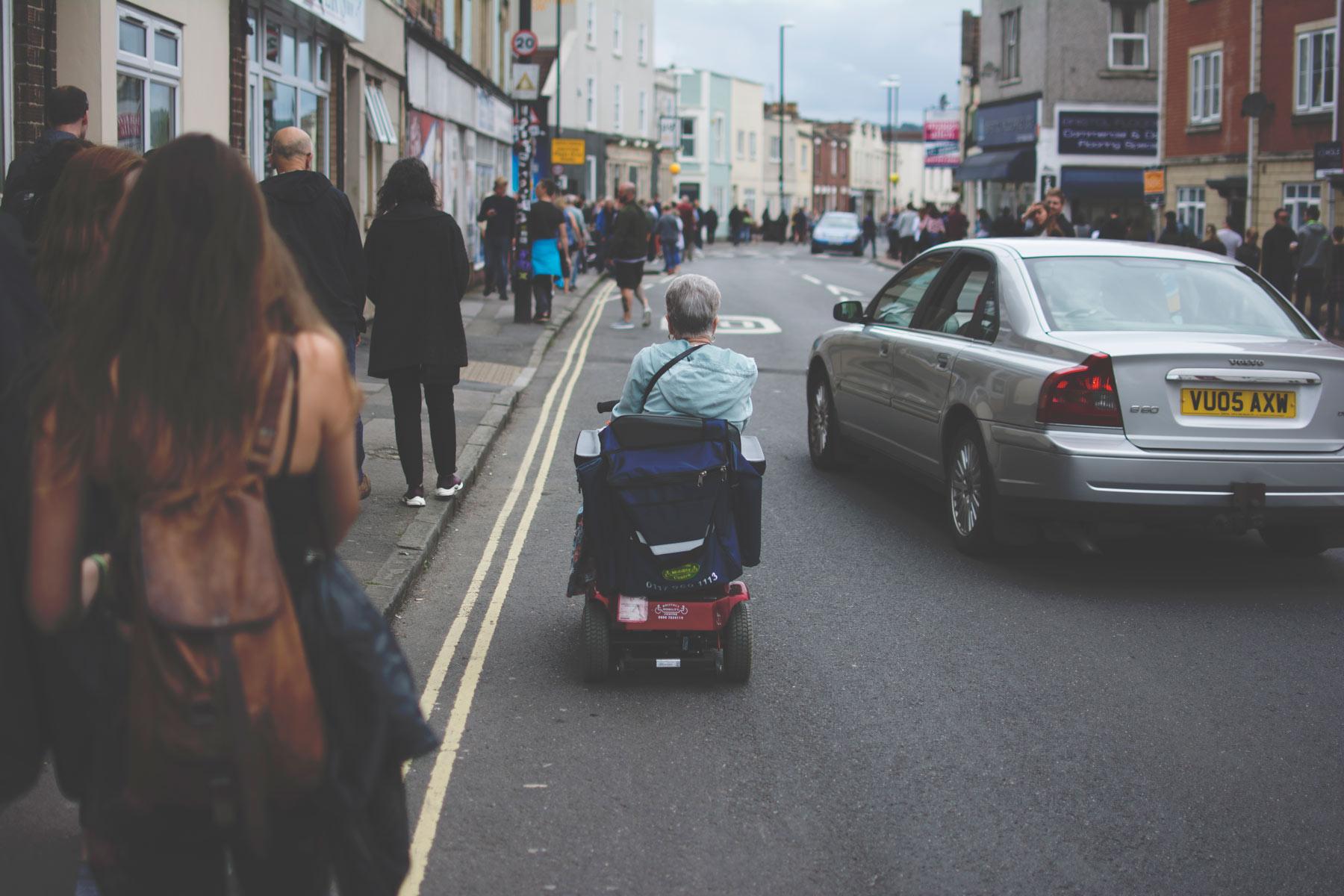 Upfest scooter rider